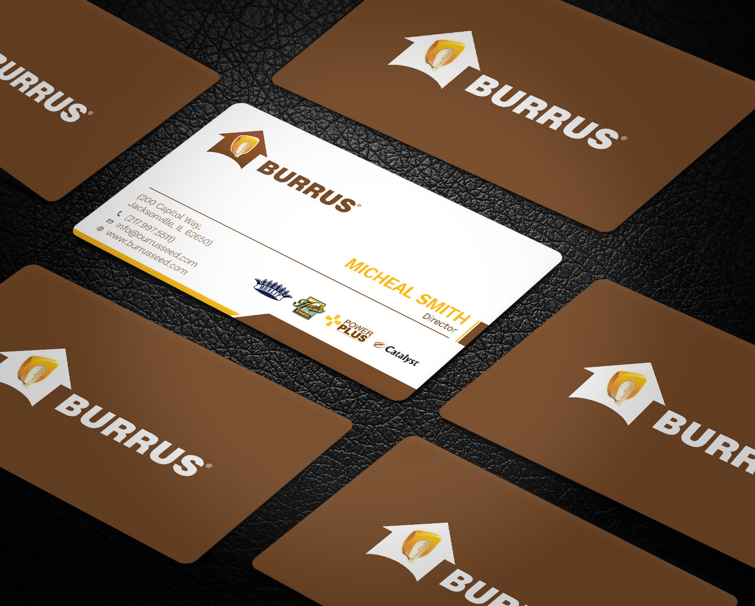 Bold, Modern, Business Business Card Design for Burrus Seed by ...