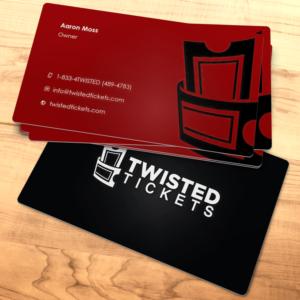 modern bold entertainment business card design for aaron j moss