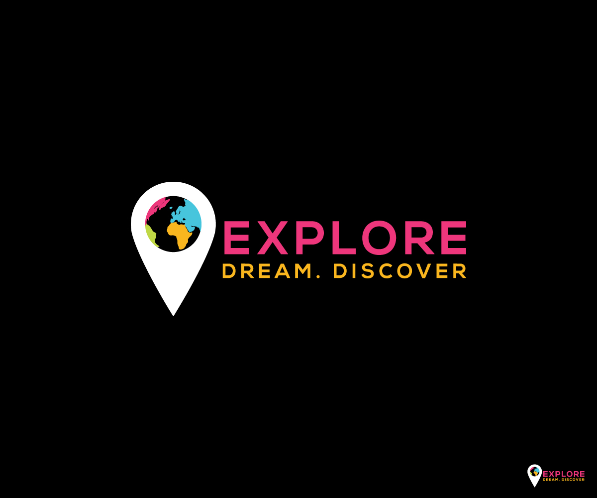 Logo Design for EXPLORE  DREAM  DISCOVER  (+quote) by Black