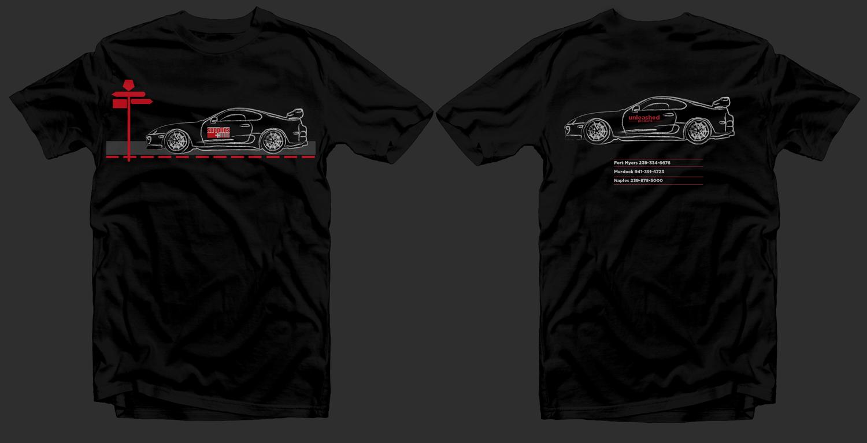 Shirt design supplies - T Shirt Design By Vintagedesigner For Supplies Plus Needs T Shirt Of Automotive Design For