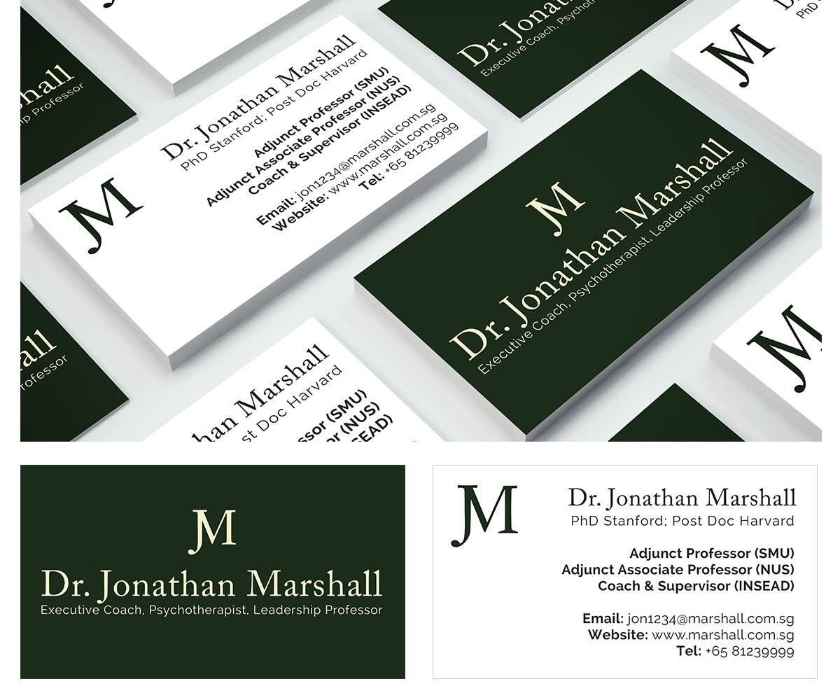Upmarket elegant psychology business card design for marshall business card design by andrs sebastin for marshall consulting pte ltd design colourmoves