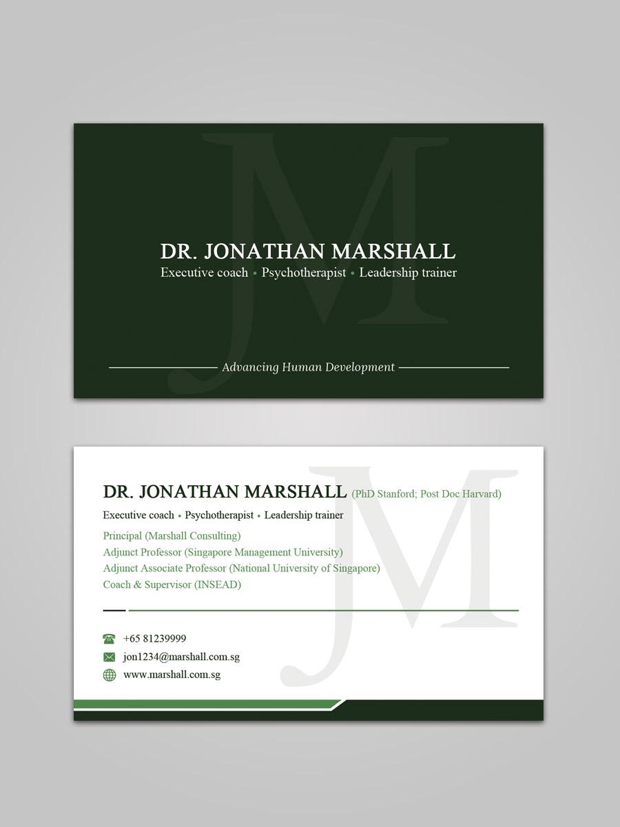 Design De Carte Visite Par Sandaruwan Pour Marshall Consulting Pte Ltd