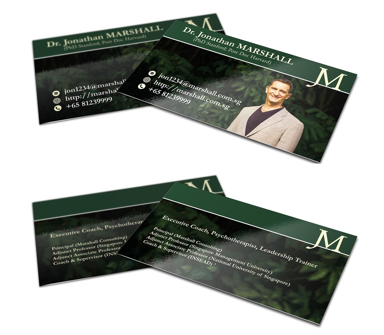 Upmarket elegant psychology business card design for marshall business card design by karim mahdavi for marshall consulting pte ltd design reheart Gallery