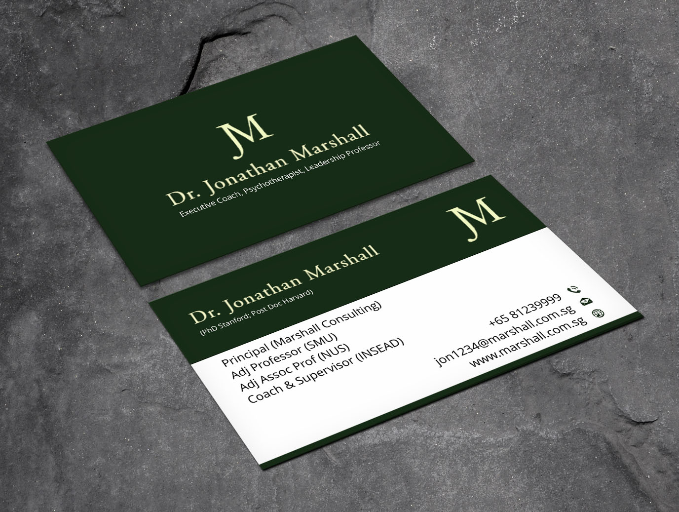 Upmarket elegant psychology business card design for marshall business card design by xpert for marshall consulting pte ltd design 17380590 colourmoves