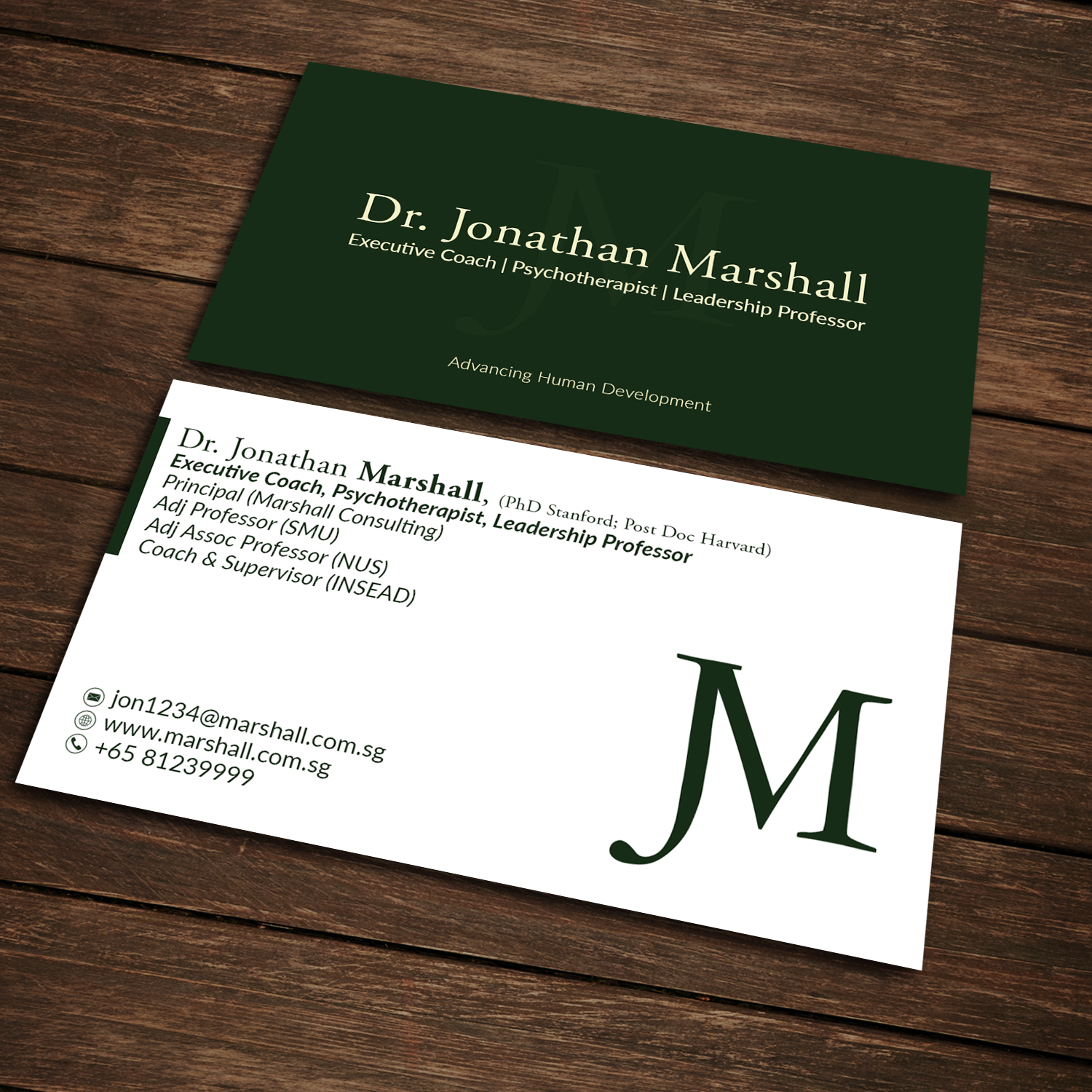 Upmarket Elegant Psychology Business Card Design For Marshall