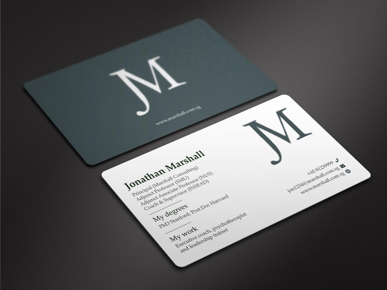 Upmarket, Elegant, Psychology Business Card Design for Marshall ...