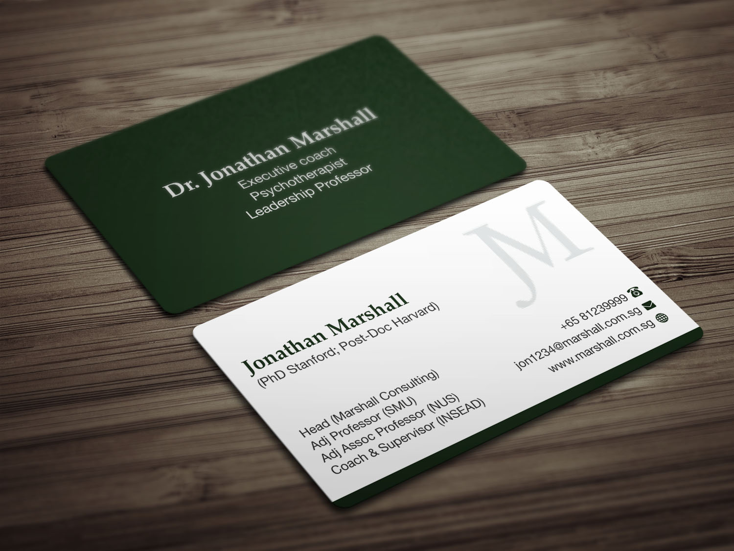Upmarket elegant psychology business card design for marshall business card design by mdreyad for marshall consulting pte ltd design 17431950 reheart Gallery
