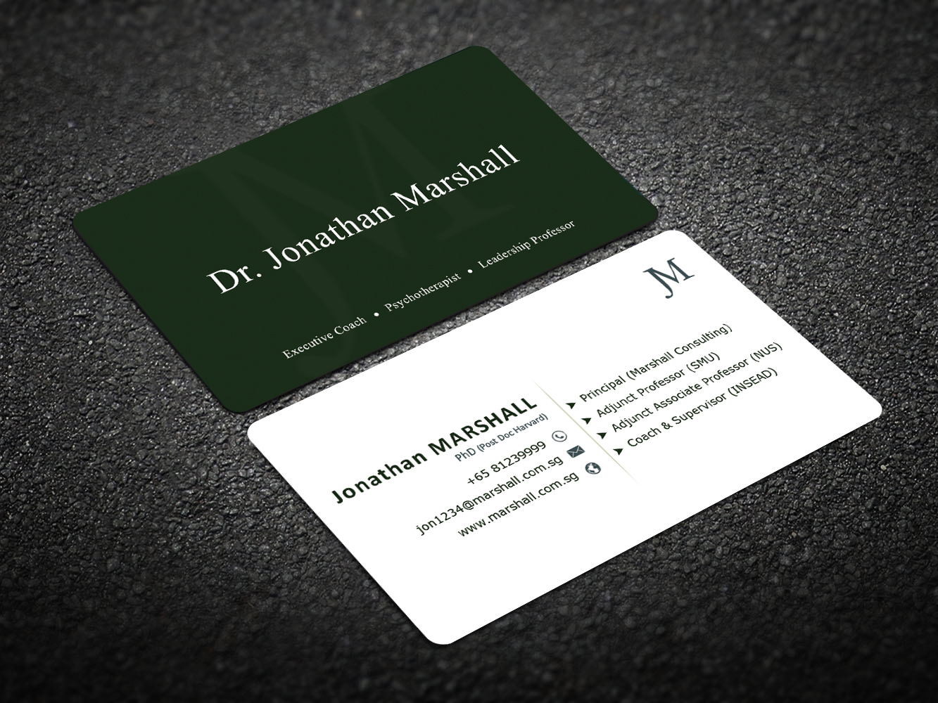 Upmarket, Elegant, Psychology Business Card Design for Marshall ...