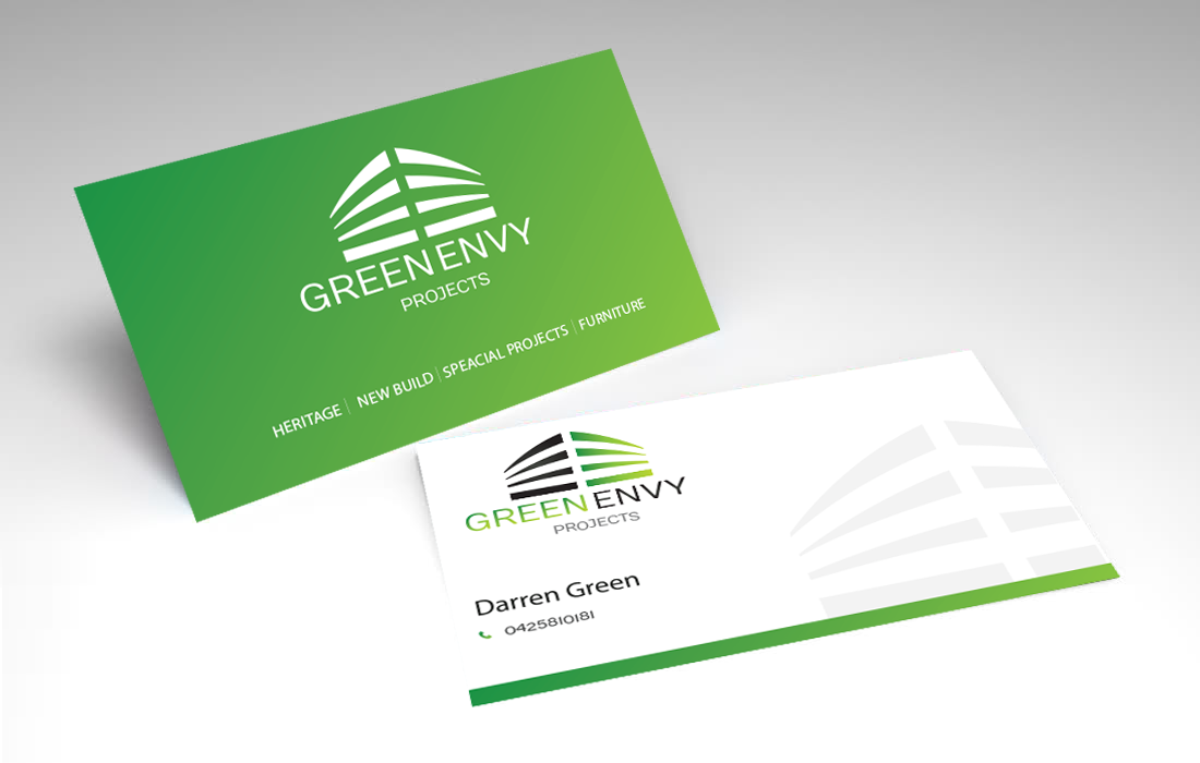 Business Card Design By UNIQUE PANTA For Green Envy Projects