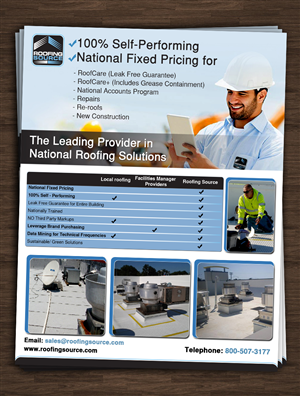 Brochure Design by hih7 - Roofing maintenance company needs graphics and  ...