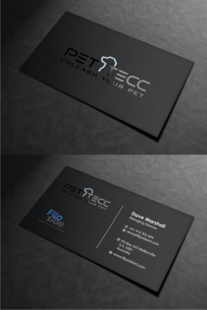 36 upmarket bold business card designs for a business in australia business card design design 17285845 submitted to pet tecc business card closed reheart Choice Image