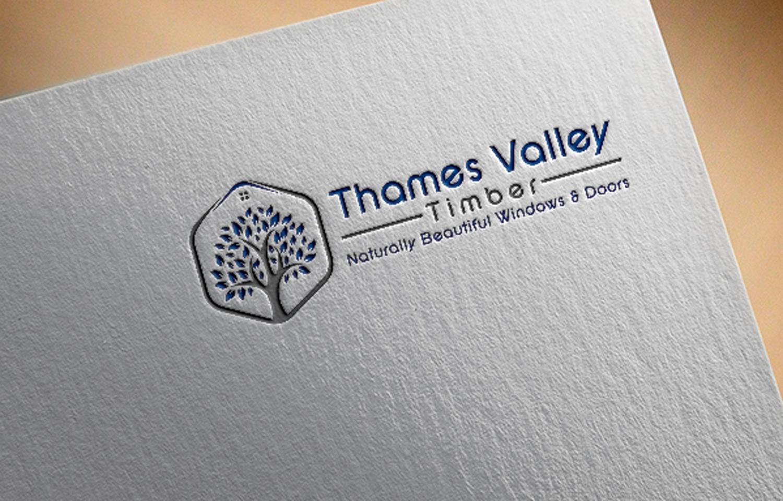 Elegant Playful Business Logo Design For Thames Valley Timber