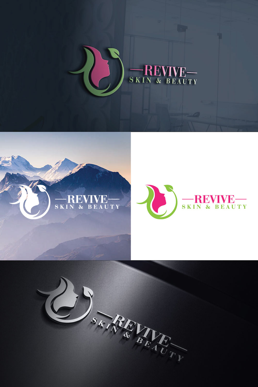 Elegant, Playful, Beauty Salon Logo Design for Revive Skin