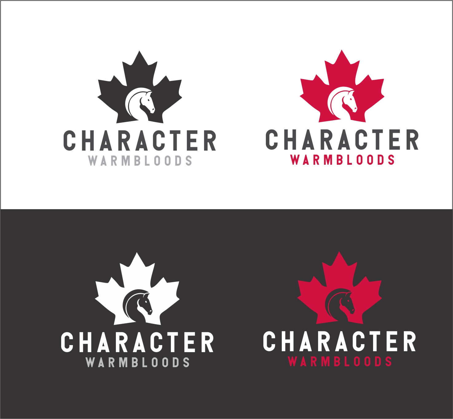 Character Design Job Canada : Serious modern logo design for character warmbloods by