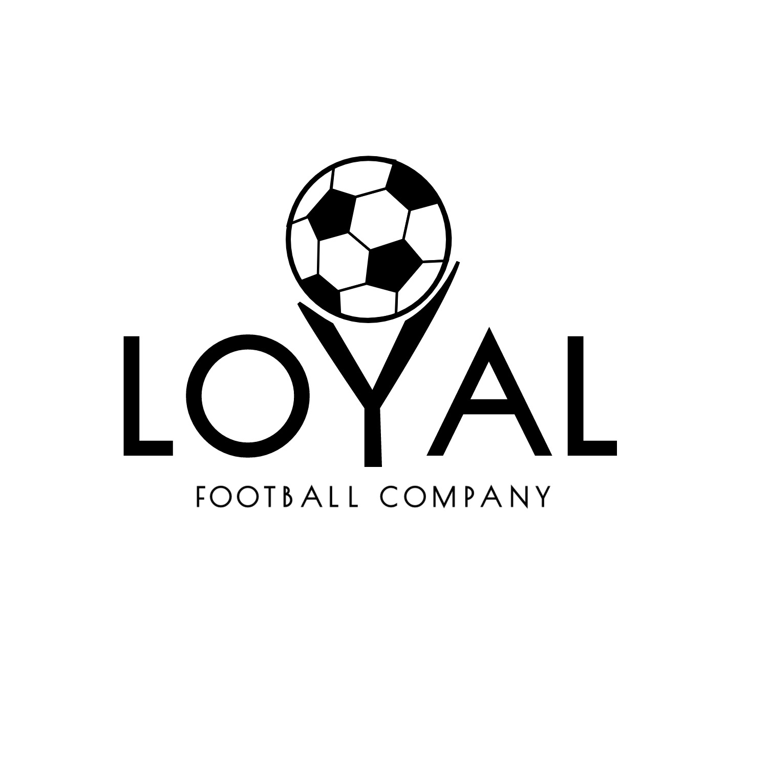 traditional serious clothing logo design for loyal football