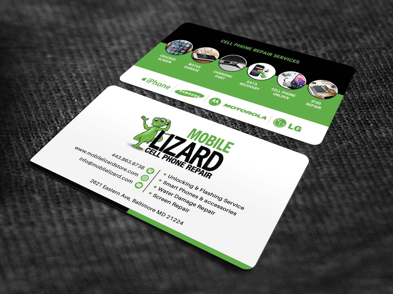 Modern, Upmarket, Cell Phone Business Card Design for Carte Blanche ...