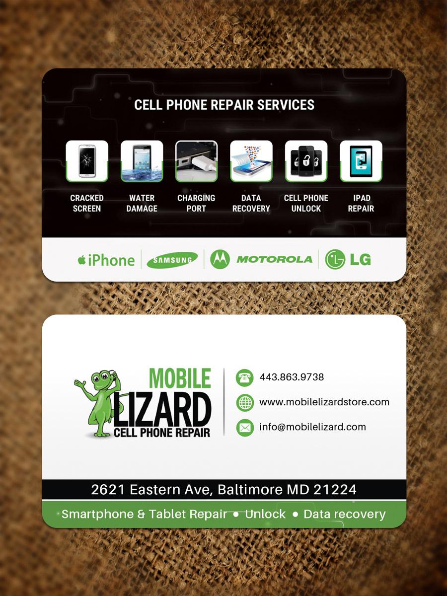 modern upmarket cell phone business card design for carte blanche