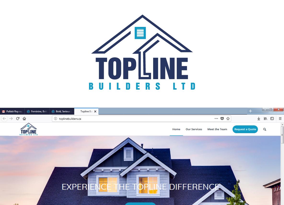 Bold, Serious, Home Builder Logo Design for Topline Builders Ltd by ...