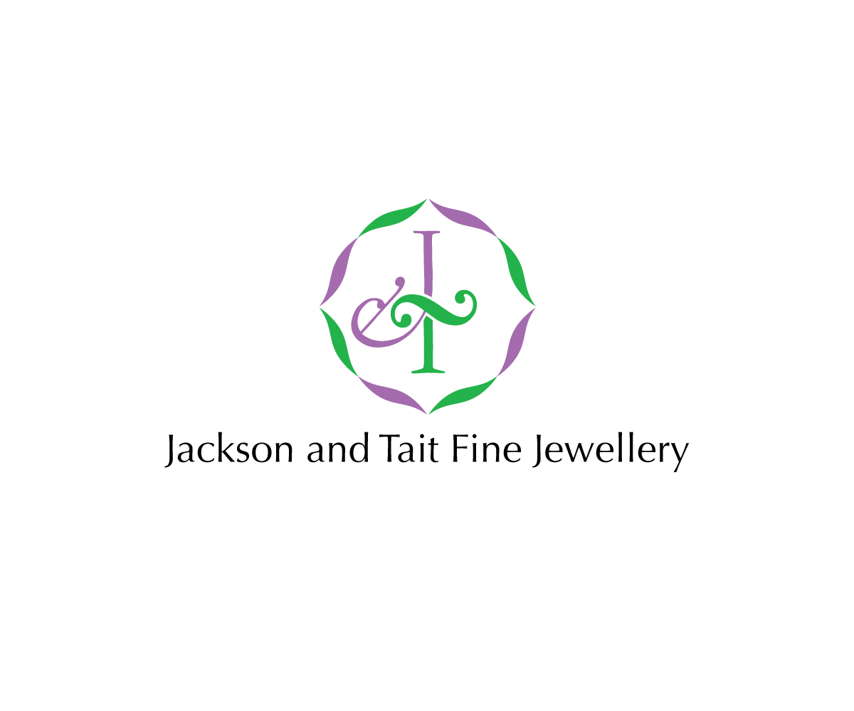 professional conservative jewelry logo design for jackson and tait