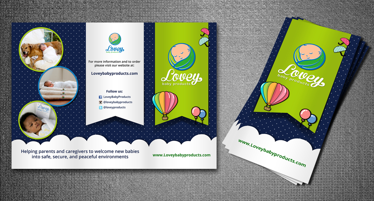Elegant Playful Baby Flyer Design For Lovey Baby Products By Rug