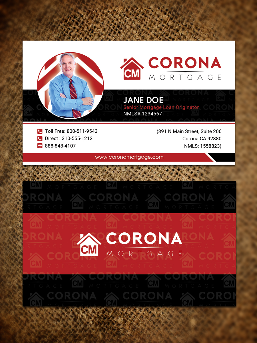 Modern upmarket mortgage lender business card design for a company business card design by sandaruwan for this project design 17327536 reheart Choice Image