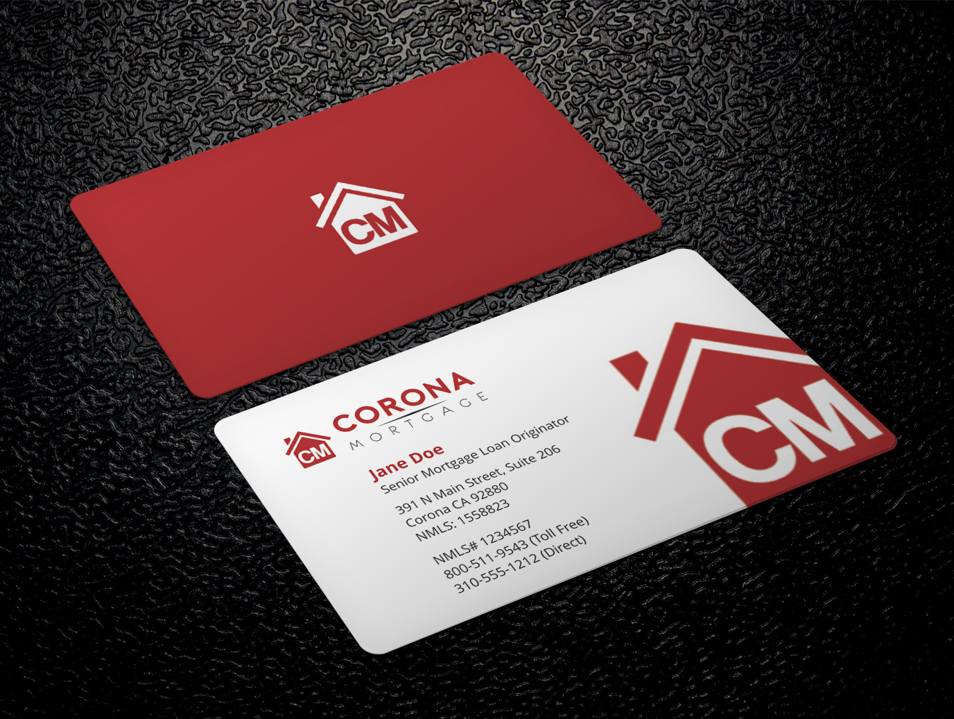 Modern upmarket mortgage lender business card design for a company business card design by xpert for this project design 17324566 reheart Choice Image
