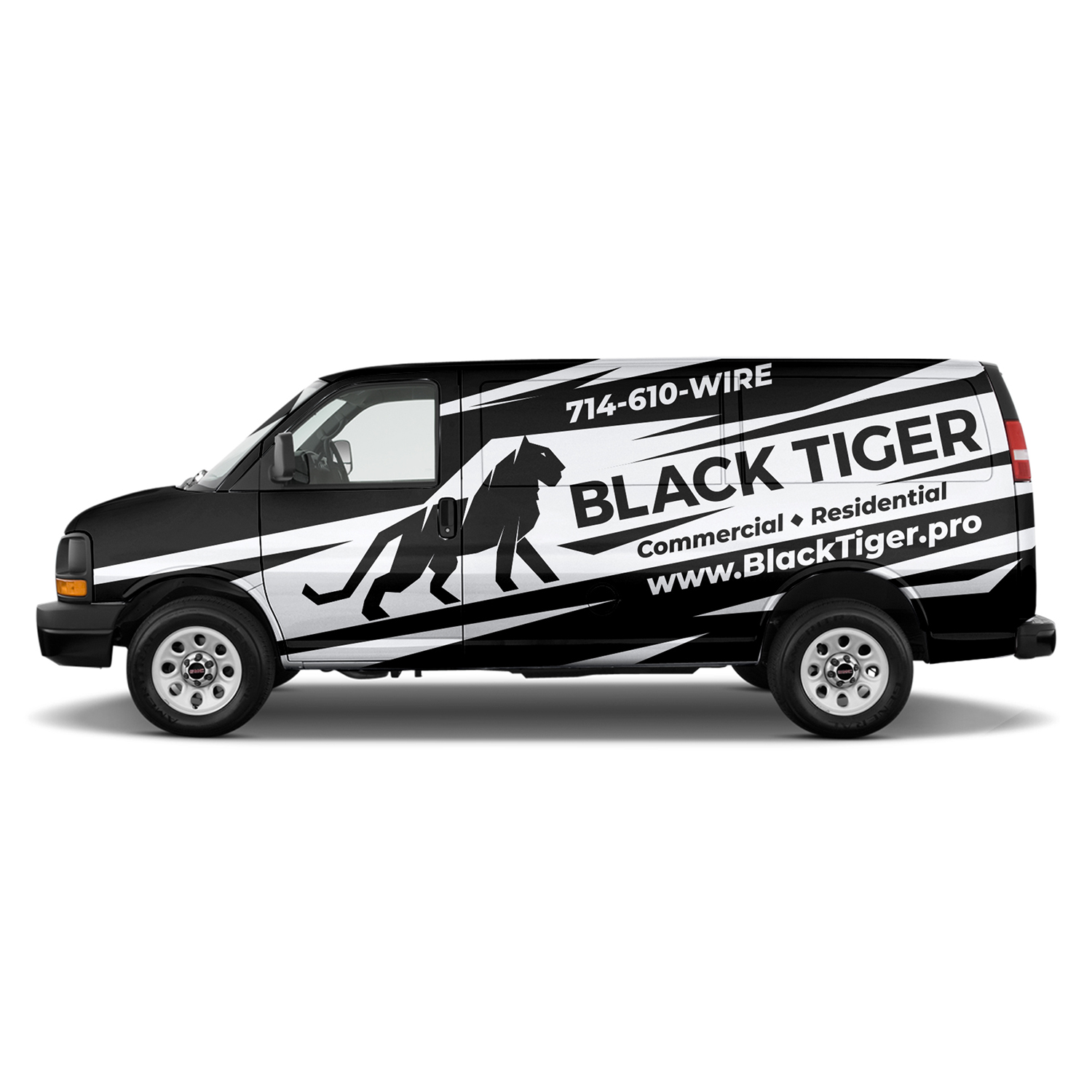 Bold Serious Contractor Car Wrap Design For Black Tiger By Czeh