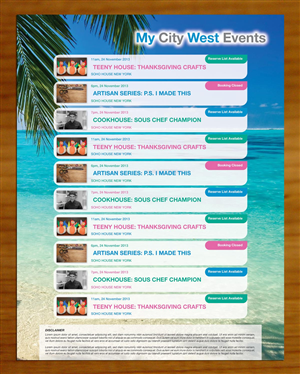 Brochure Design by smart - Social Event Calendar for real estate ad