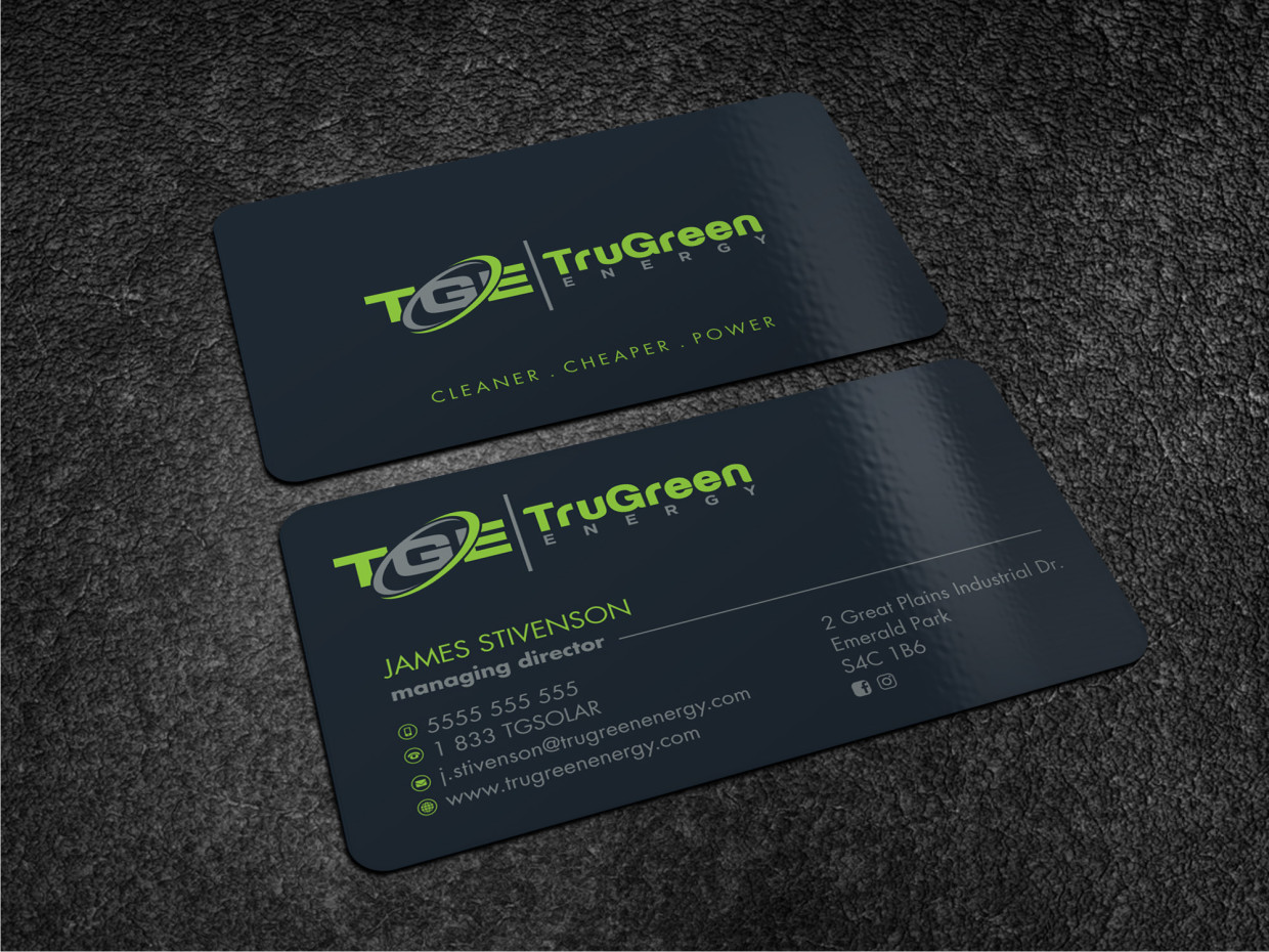 Professional, Modern, Business Business Card Design for TruGreen ...