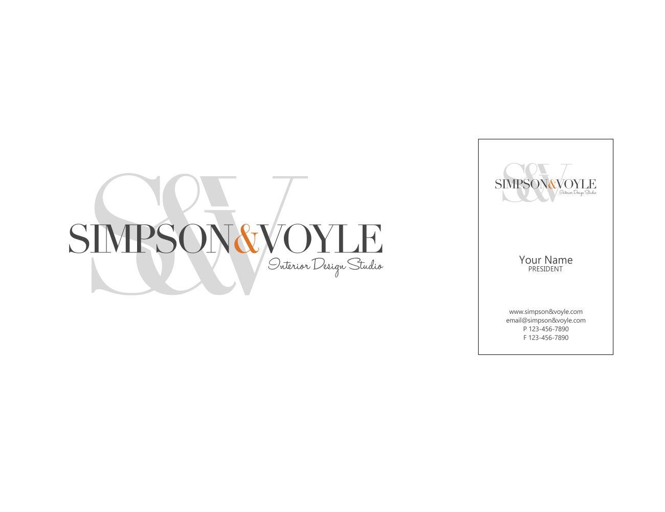 Upmarket Playful It Company Logo Design For Simpson Voyle Interior Design Studio By Edu Morente Design 17366261