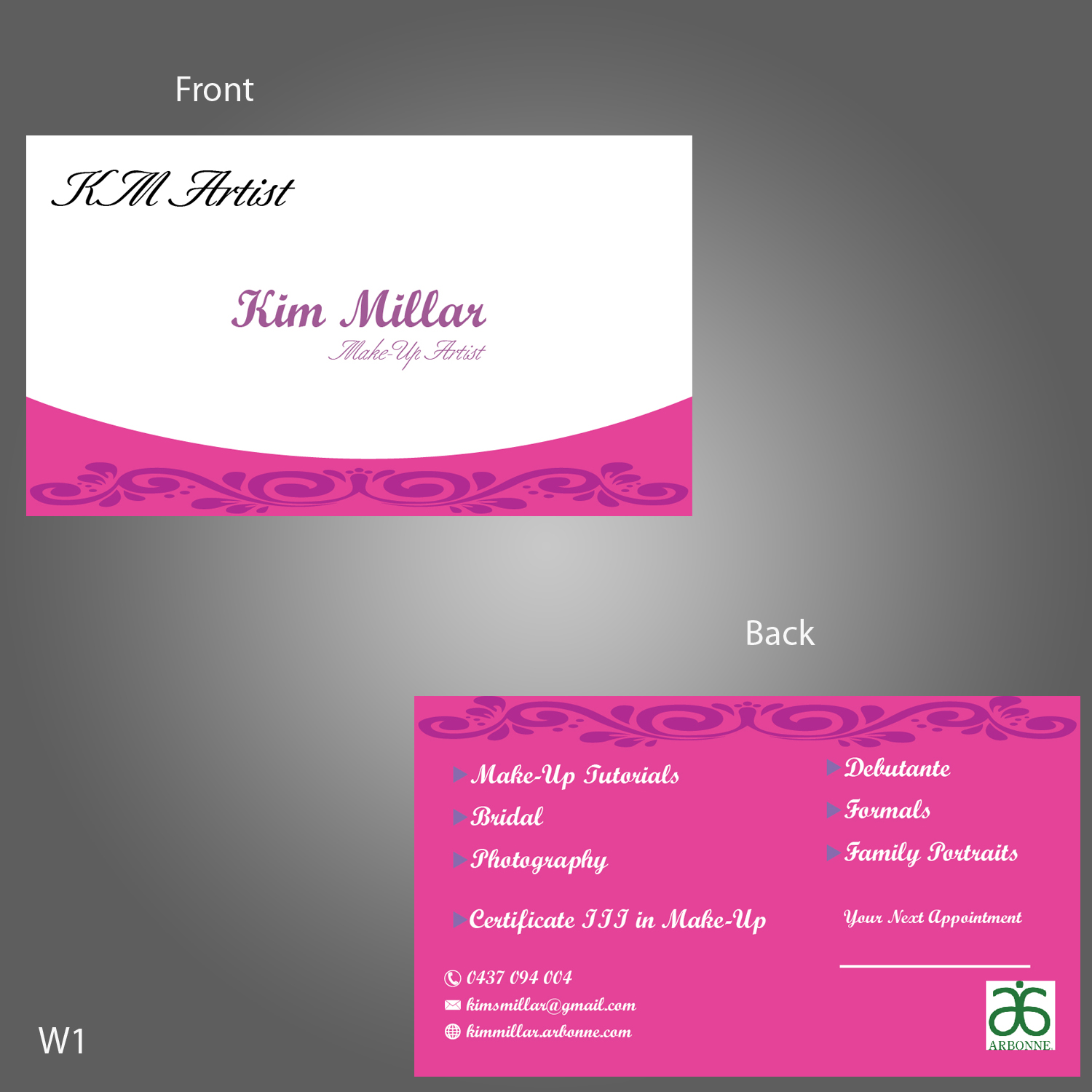 Traditional Personable Makeup Business Card Design For A Company