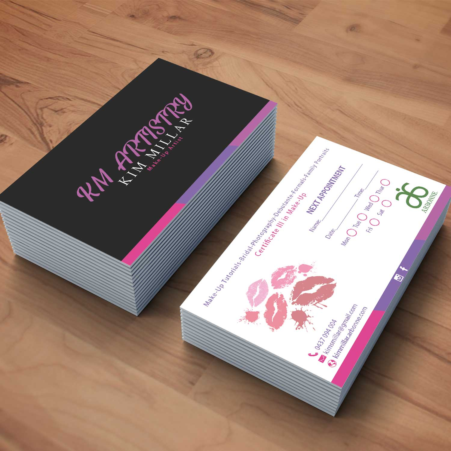 Traditional personable makeup business card design for a company business card design by oomardesigns for this project design 17366250 colourmoves