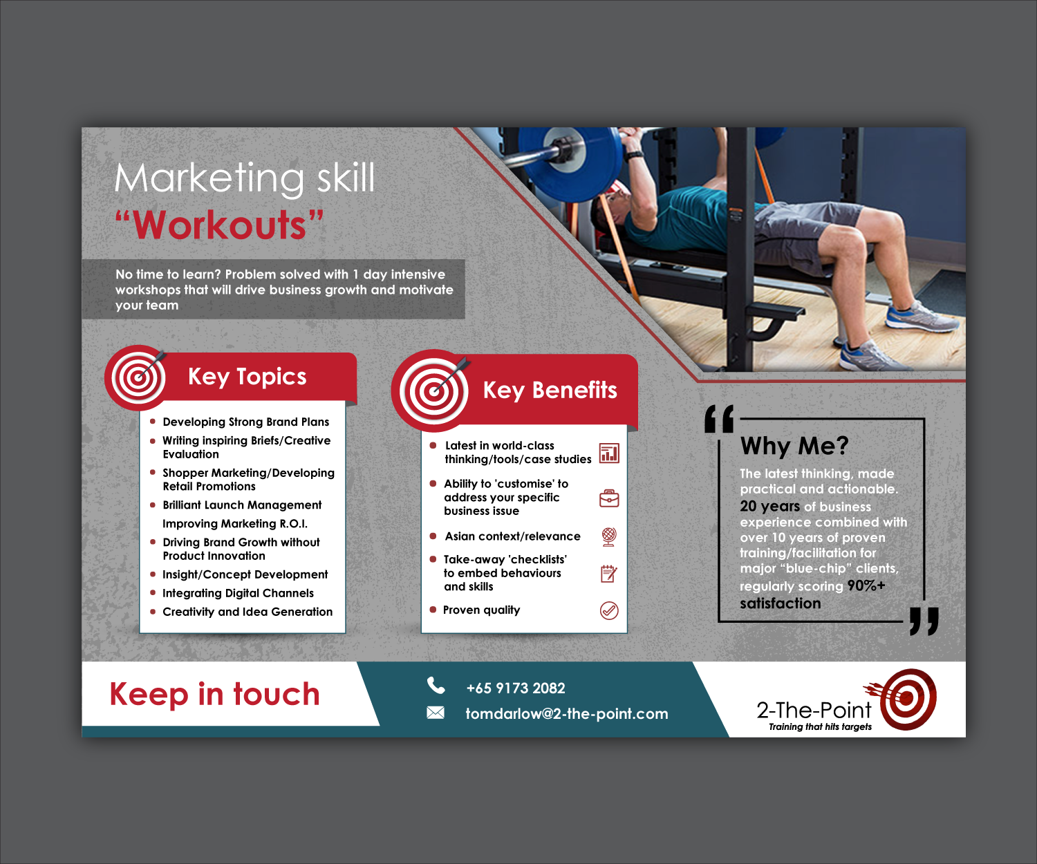 serious modern marketing flyer design for 2 the point marketing