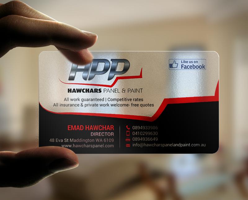 135 bold business card designs automotive business card design business card design by chandrayaaneative for hawchars panel paint pty ltd design colourmoves