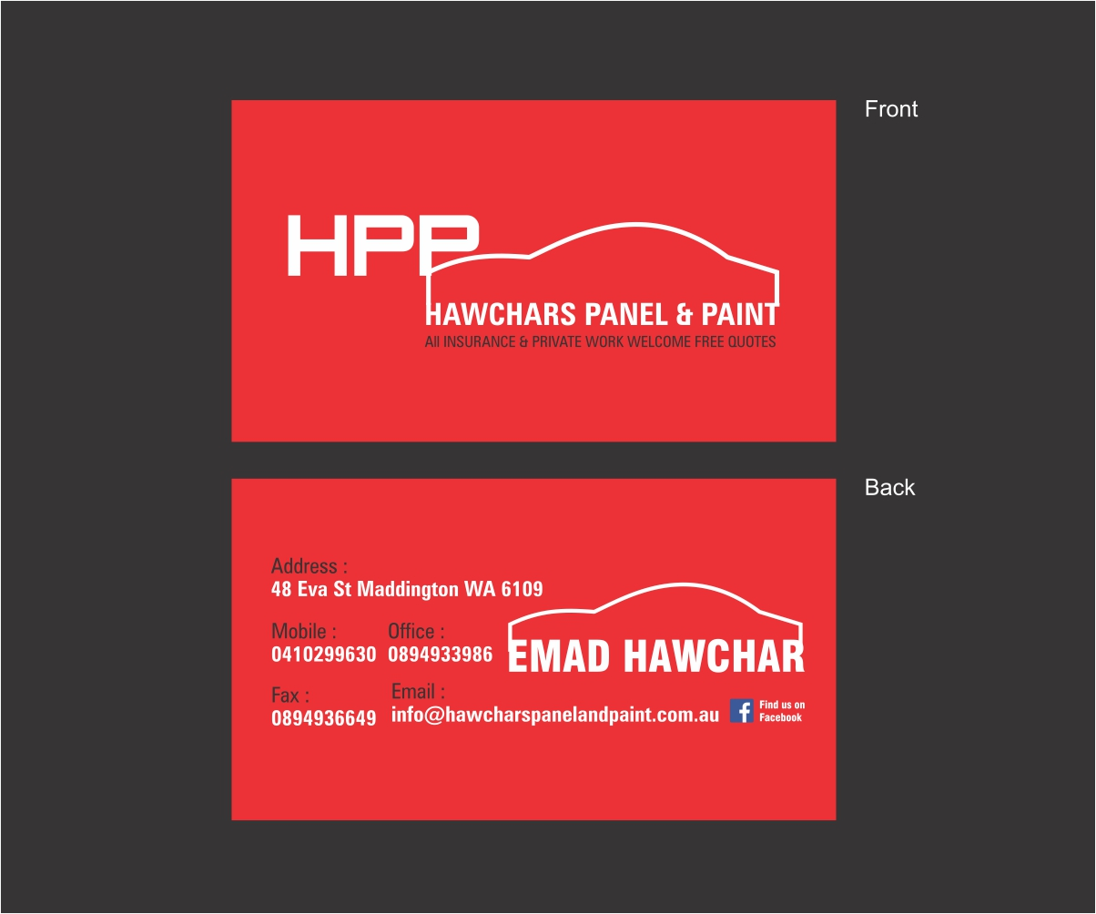 back of business card quotes