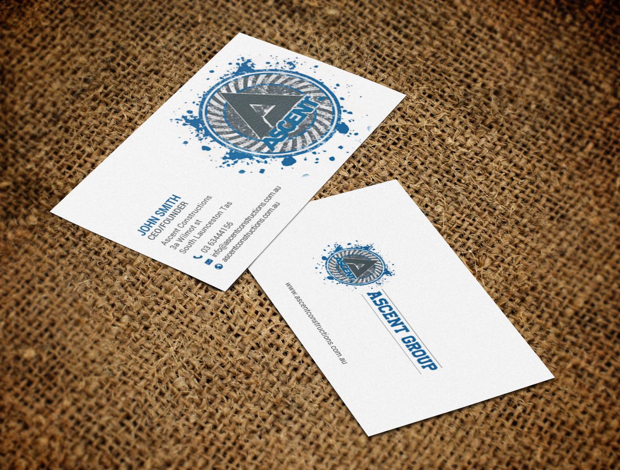 Bold modern construction company business card design for a bold modern construction company business card design for a company in australia design 17377617 reheart Choice Image