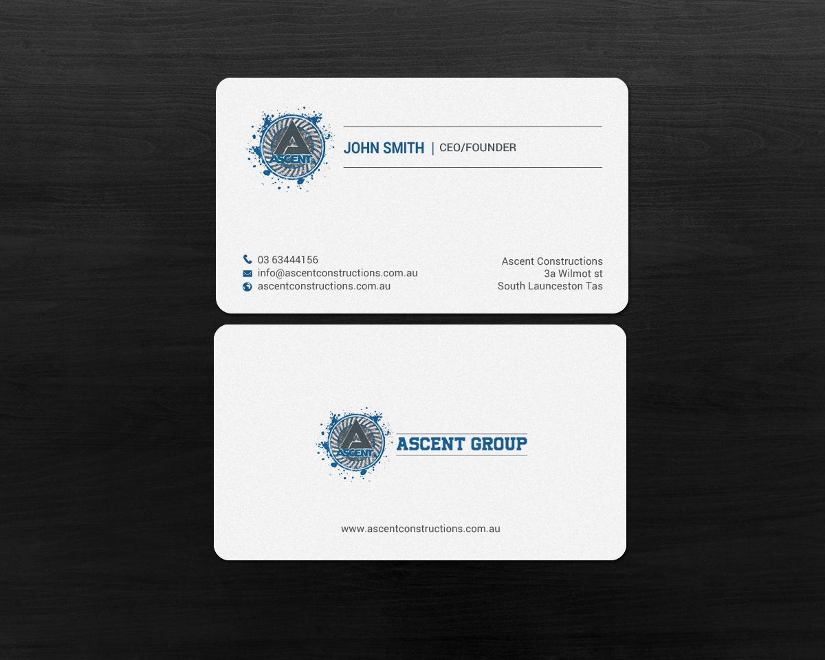 Bold modern construction company business card design for a bold modern construction company business card design for a company in australia design 17386635 reheart Choice Image