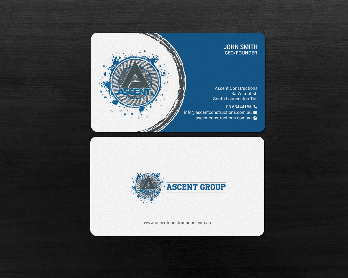 Bold modern construction company business card design for a bold modern construction company business card design for a company in australia design 17389235 reheart Choice Image
