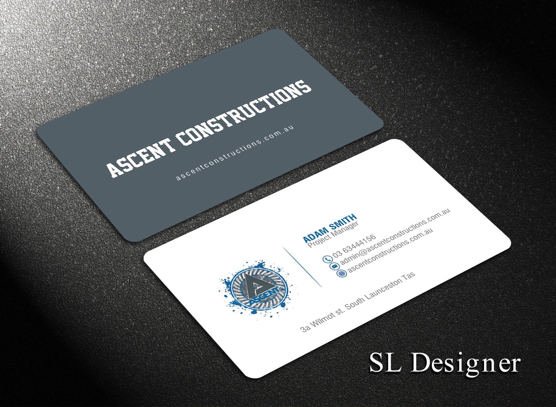 Bold modern construction company business card design for a bold modern construction company business card design for a company in australia design 17379145 reheart Choice Image