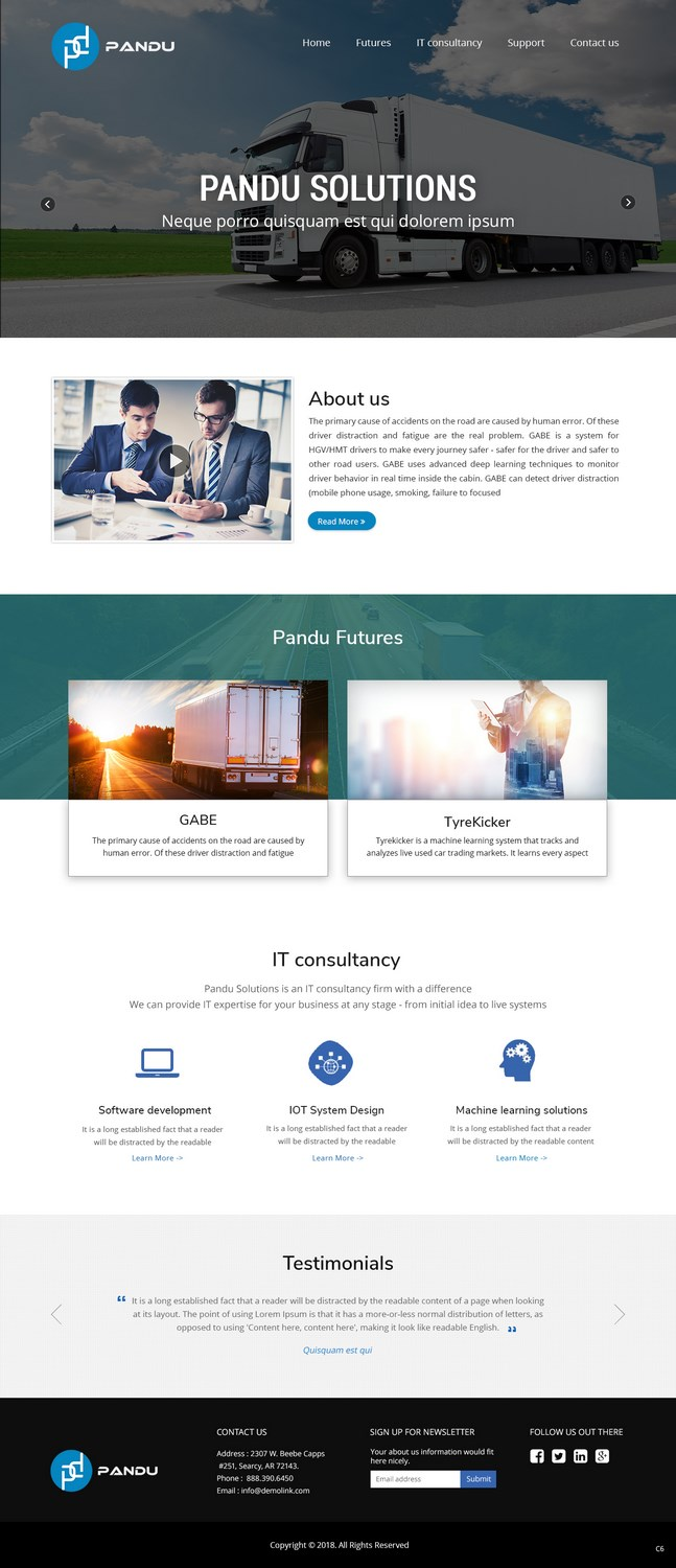 Serious, Modern, It Company Web Design for a Company by pb | Design ...