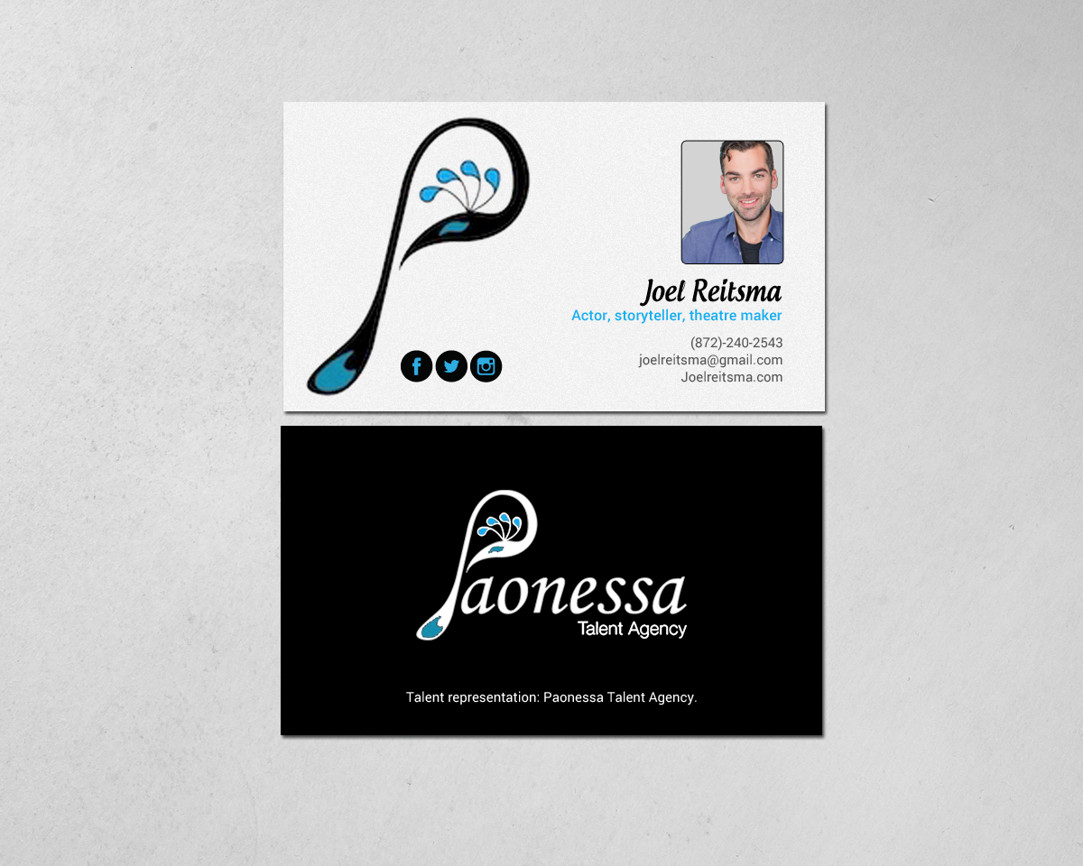 Bold, Serious, Performing Art Business Card Design for a Company by ...