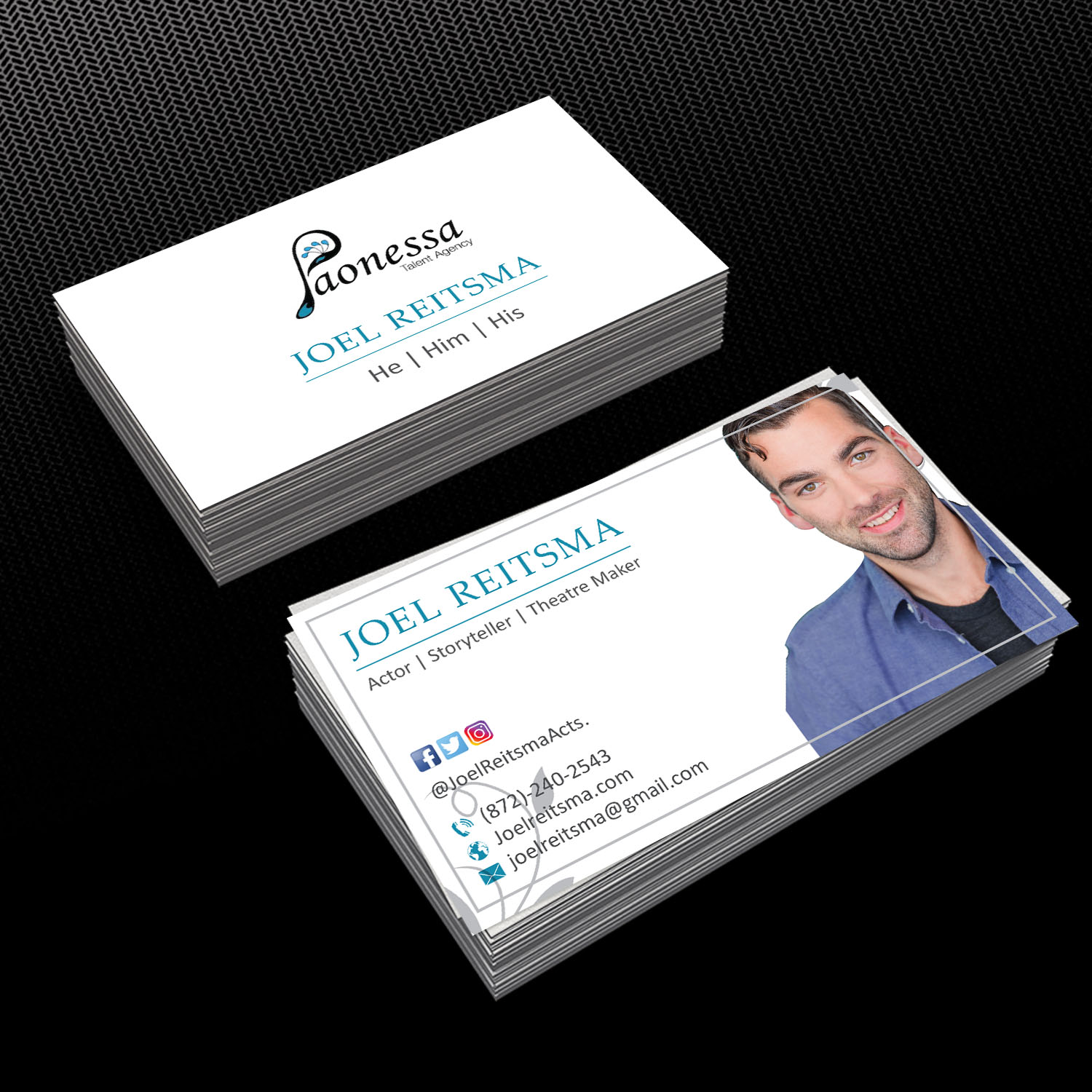 Audacieux srieux business card design for joel reitsma by business card design by creative jiniya for joel reitsma actor business cards design 17388680 magicingreecefo Choice Image