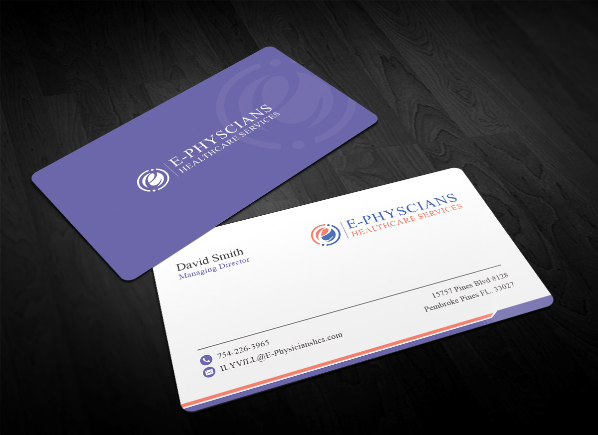 Traditional serious health care business card design for e business card design by sandaruwan for e physicians healthcare services design 17402070 colourmoves