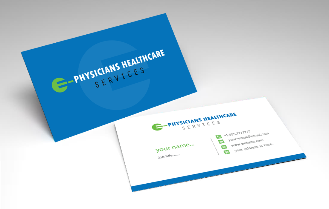 Traditional serious health care business card design for e business card design by unique panta for e physicians healthcare services design 17392212 colourmoves