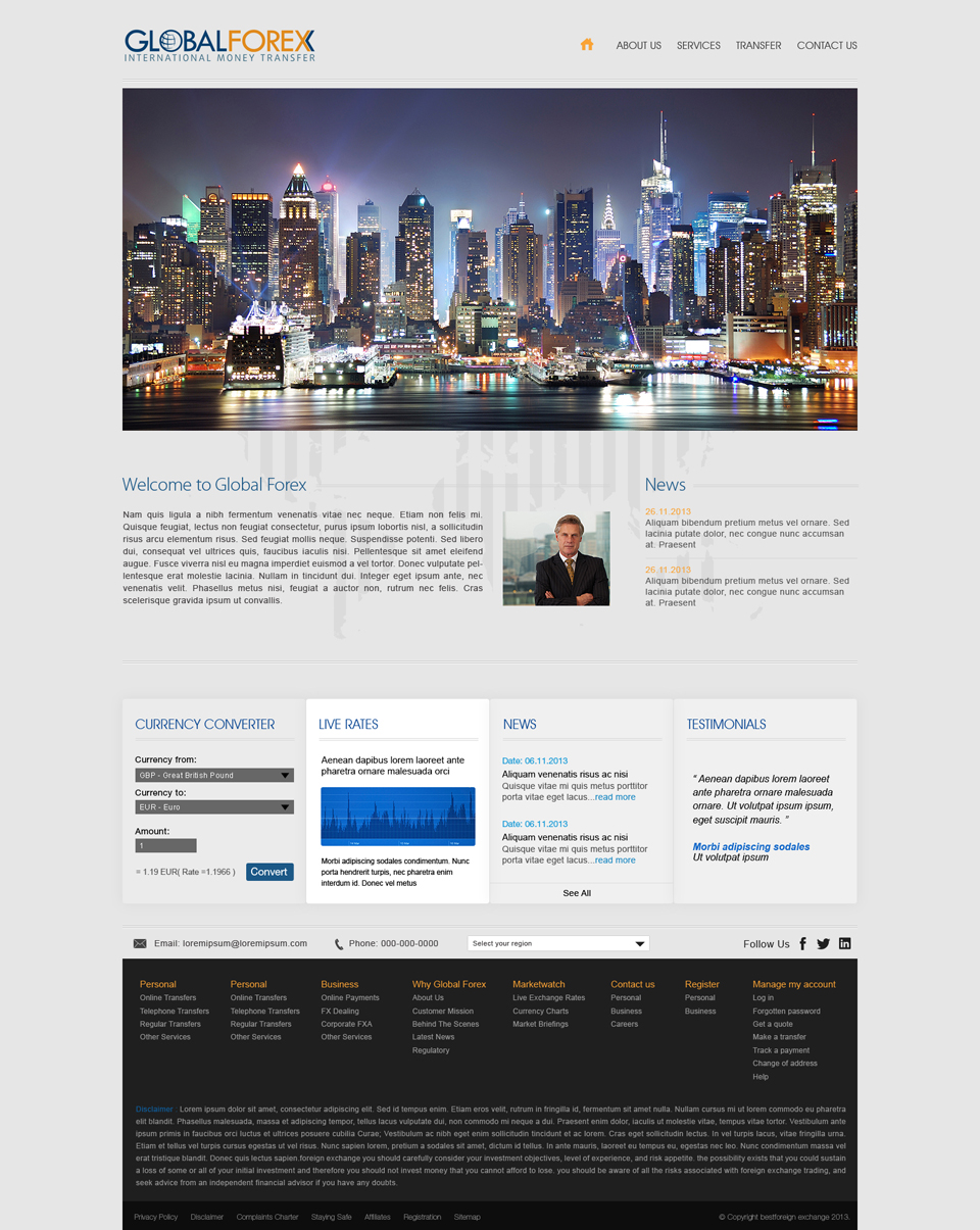 Modern, Professional, Security Web Design for a Company by Latest ...