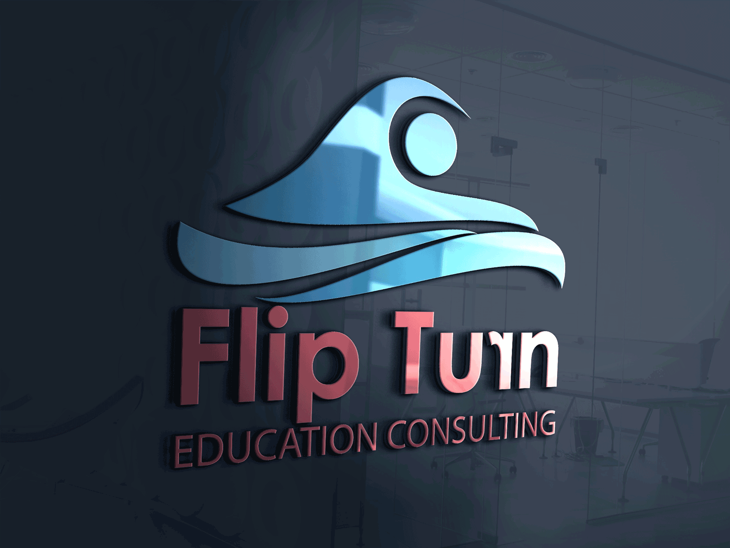 Bold modern education logo design for flipturn or flipturn
