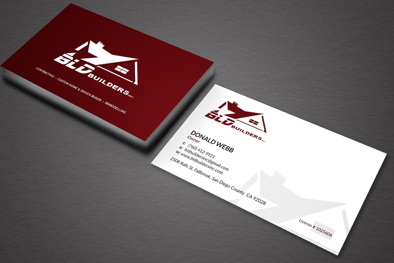 Elegant playful business business card design for bld builders business card design by sarah mathews for bld builders inc design 17397776 reheart Image collections