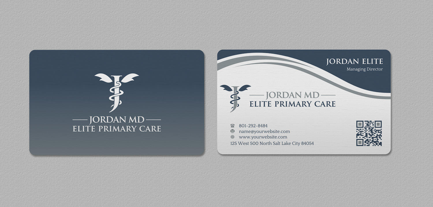 Serious professional medical business card design for jordan elite business card design by indianashok for jordan elite primary care design 17398051 reheart Image collections