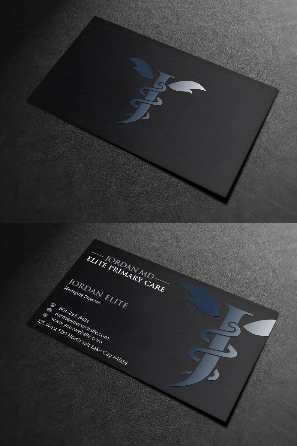 Serious professional medical business card design for jordan elite business card design by indianashok for jordan elite primary care design 17419173 colourmoves