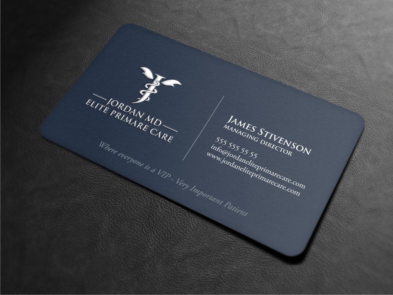 162 serious business card designs medical business card design business card design by atvento graphics for jordan elite primary care design 17397480 colourmoves